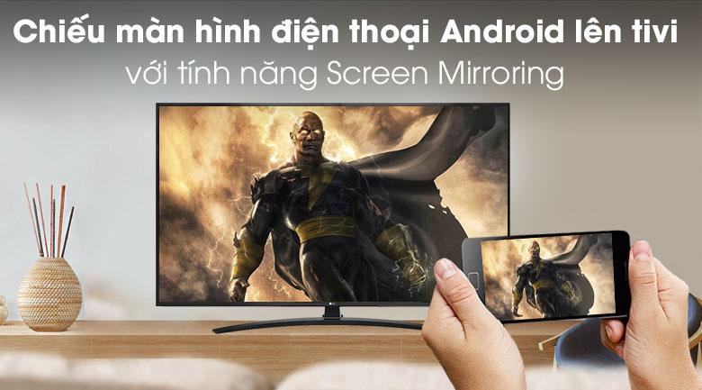 Chiếu màn hình điện thoại Andriod lên tivi bằng screen mirroring