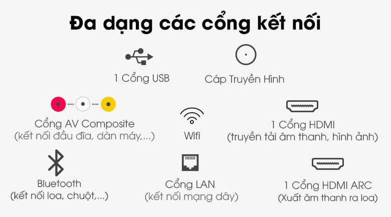 Android Tivi TCL 32 inch L32S66A - Cổng kết nối