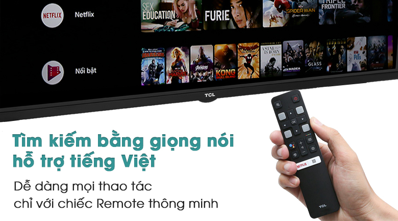 Android Tivi TCL 32 inch L32S66A - Remote thông minh