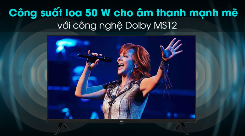 Android Tivi TCL 32 inch L32S66A - Dolby MS12