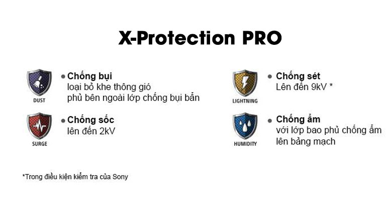 Android Tivi Sony 4K 43 inch KD-43X7500H - Công nghệ X-Protection PRO