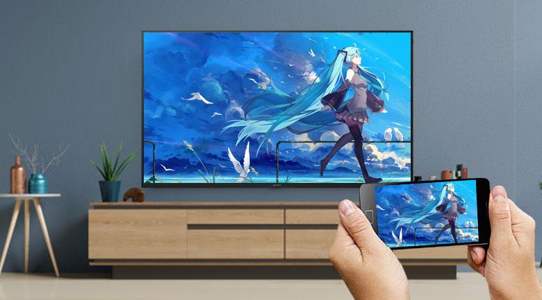 Android Tivi Sony 4K 49 inch KD-49X7500H - Chiếu màn hình Chromecast