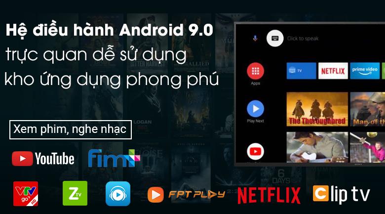 Android Tivi Sony 4K 49 inch KD-49X7500H - Hệ điều hành Android 9.0