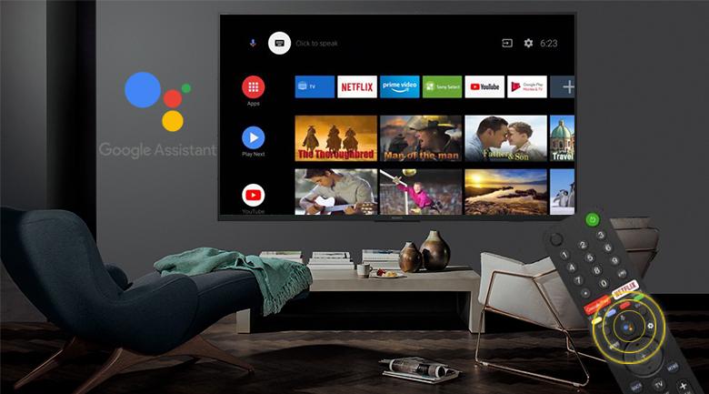Android Tivi Sony 4K 49 inch KD-49X7500H - Điều khiển bằng giọng nói