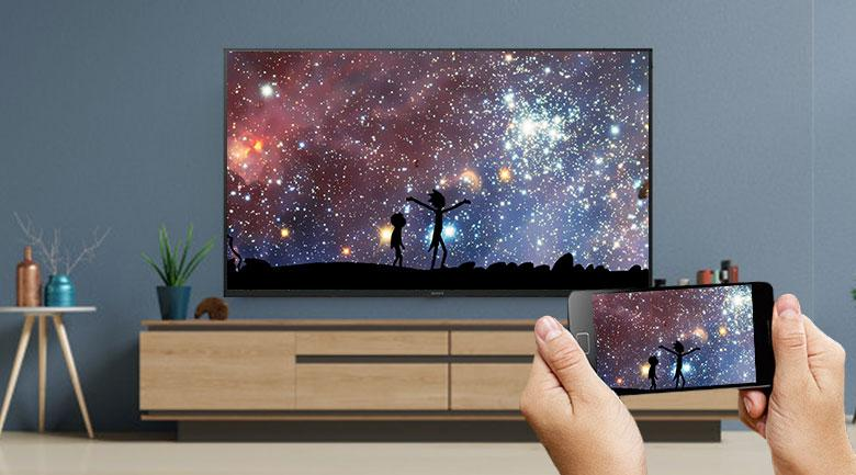 Chromecast-Android Tivi Sony 4K 65 inch KD-65X7500H