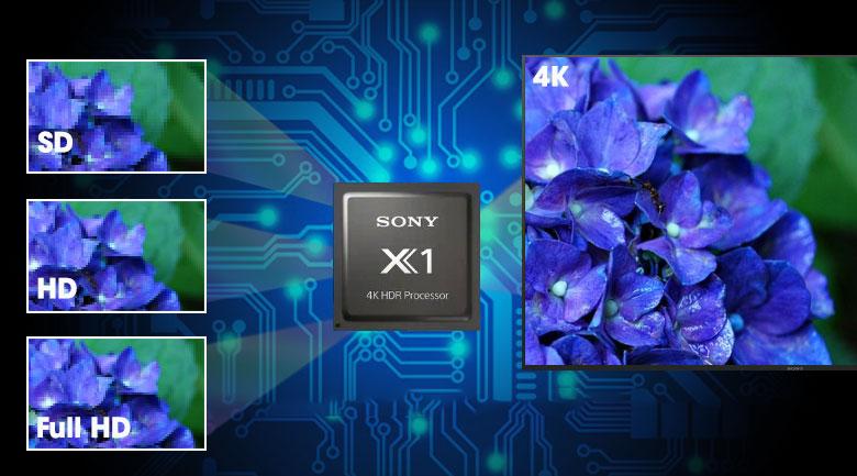 X1 4K Processor-Android Tivi Sony 4K 43 inch KD-43X8000H