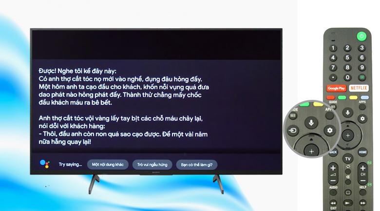 Android Tivi Sony 4K 49 inch KD-49X8000H - Điều khiển tivi bằng giọng nói