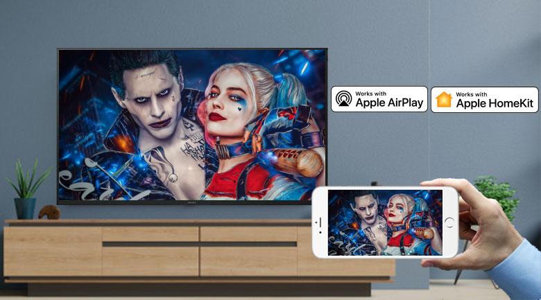Android Tivi Sony 4K 55 inch KD-55X8000H - chiếu màn hình điện thoại lên tivi nhờ Apple Homekit/Apple Airplay