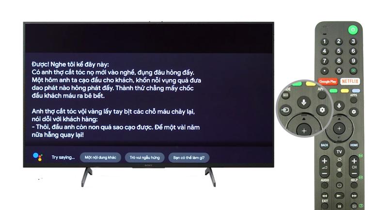 Android Tivi Sony 4K 55 inch KD-55X8000H - Điều khiển tivi bằng giọng nói