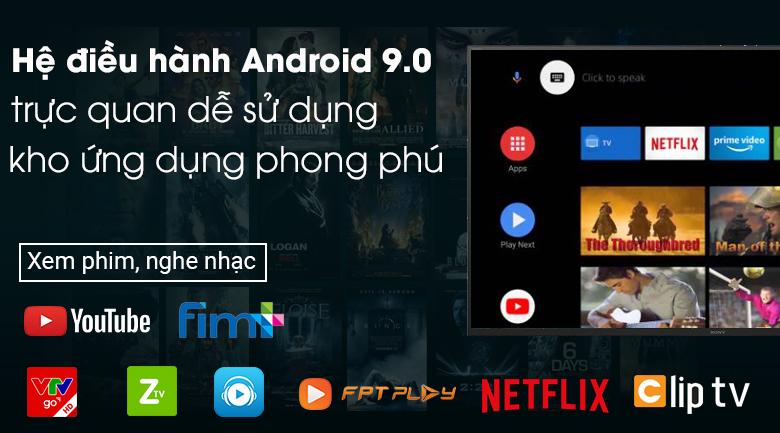 Android Tivi Sony 4K 65 inch KD-65X8000H - Hệ điều hành