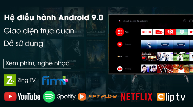 Android Tivi Sony 4K 75 inch KD-75X8000H - Android 9.0
