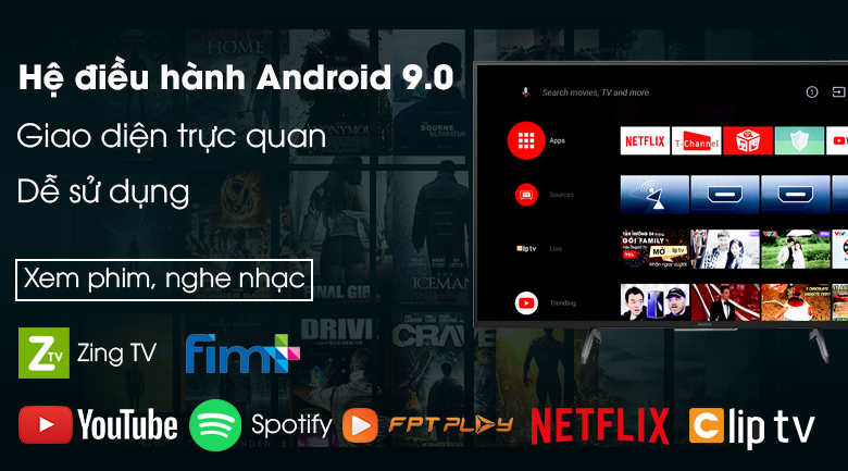 Android Tivi Sony 4K 85 inch KD-85X8000H - Android 9.0