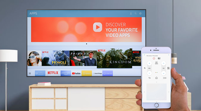 Smart Tivi QLED Samsung 4K 65 inch QA65LS03T - SmartThings