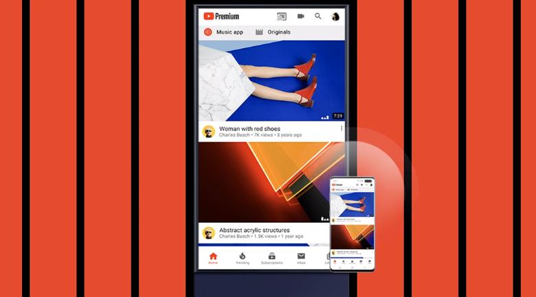 Smart Tivi QLED Samsung 4K 43 inch QA43LS05T - Tap View