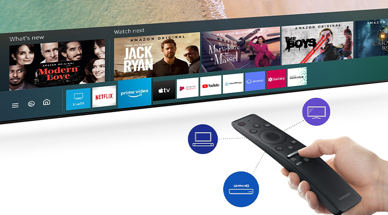 Smart Tivi QLED Samsung 4K 43 inch QA43LS05T - One Remote