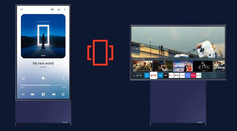 Smart Tivi QLED Samsung 4K 43 inch QA43LS05T - Xoay độc đáo