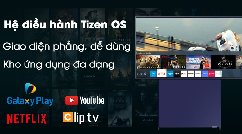 Smart Tivi QLED Samsung 4K 43 inch QA43LS05T - Tizen OS