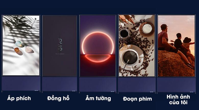 Smart Tivi QLED Samsung 4K 43 inch QA43LS05T - 5 chế độ cho tivi nằm dọc