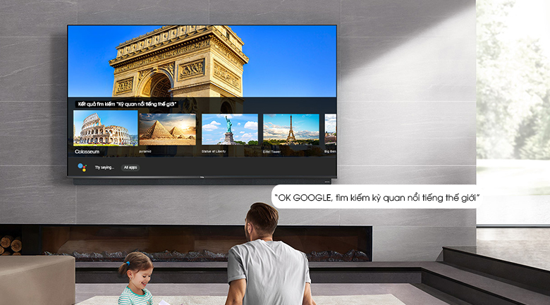Android Tivi QLED TCL 4K 55 inch 55C815 - Google Assistant