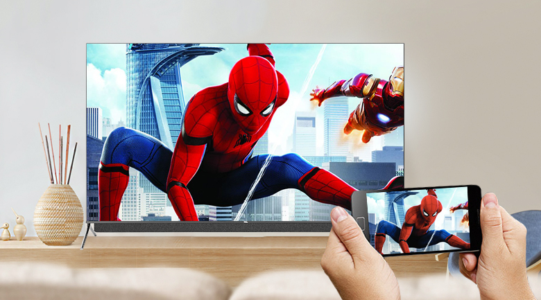 Android Tivi QLED TCL 4K 55 inch 55C815 - Google Cast