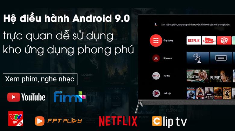 Android Tivi QLED TCL 4K 55 inch 55C815 - Hệ điều hành Android 9.0