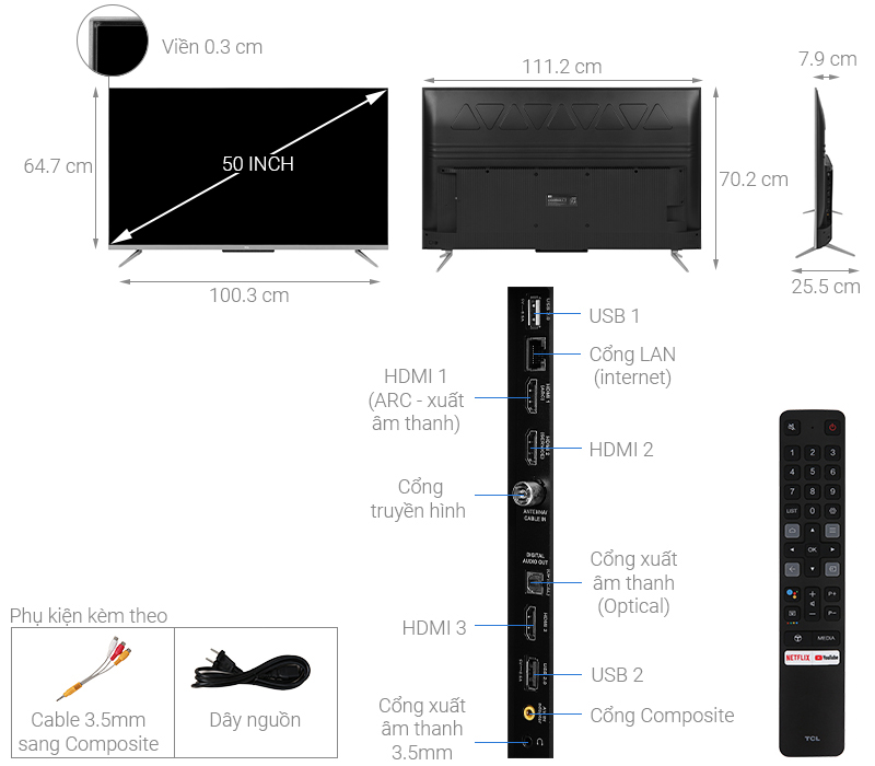 Android Tivi TCL 50 inch 50P715