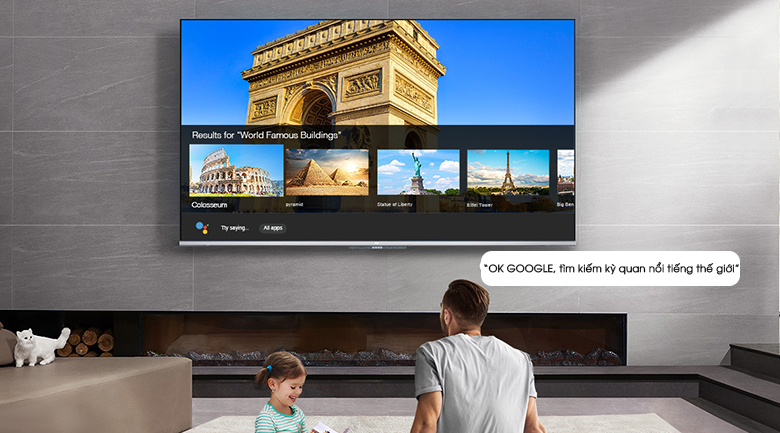 Android Tivi TCL 50 inch L50P715 - Google Assistant