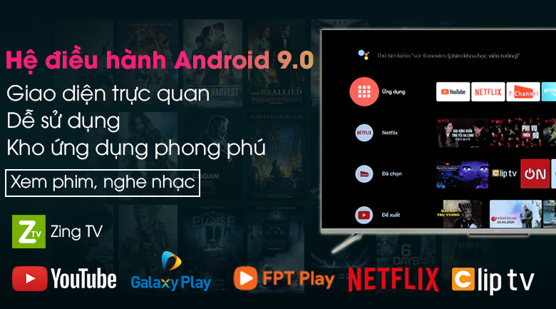 Android Tivi TCL 65 inch L65P715 - Android 9.0