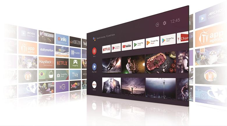 Android Tivi QLED TCL 4K 50 inch 50Q716: Hệ điều hành