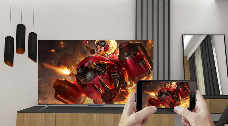 Android Tivi QLED TCL 4K 50 inch 50Q716: Google Cast