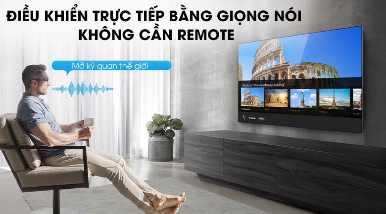 Android Tivi QLED TCL 4K 50 inch 50Q716: Điều khiển bằng giọng nói rảnh tay