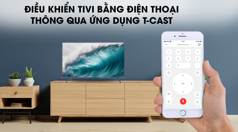 Android Tivi QLED TCL 4K 50 inch 50Q716: T-Cast