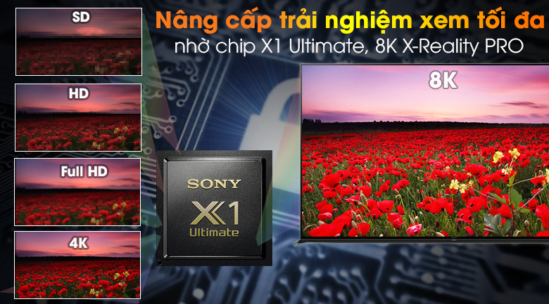 Android Tivi Sony 8K 85 inch KD-85Z8H - X1 Ultimate