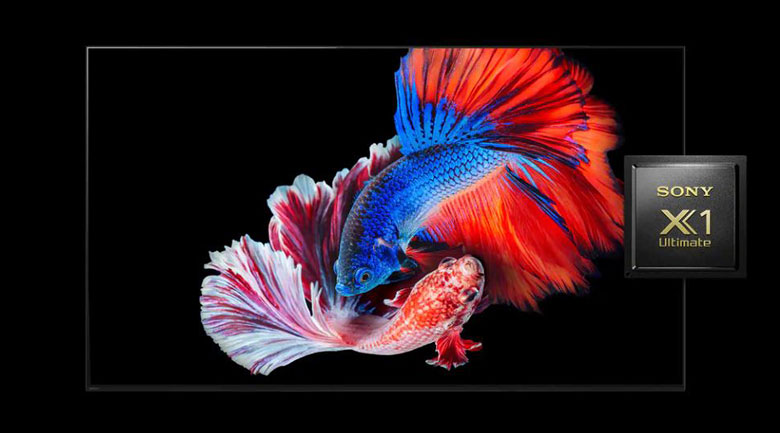 Android Tivi OLED Sony 4K 55 inch KD-55A8H - Chip xử lý X1 Ultimate