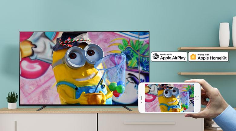 Android Tivi OLED Sony 4K 55 inch KD-55A8H - Chiếu màn hình điện thoại lên tivi