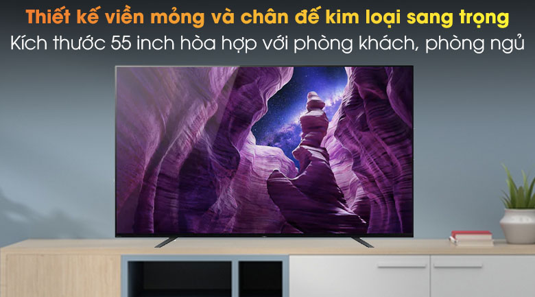 Android Tivi OLED Sony 4K 55 inch KD-55A8H - Thiết kế