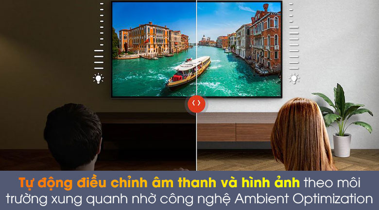 Android Tivi OLED Sony 4K 55 inch KD-55A8H - Ambient Optimization