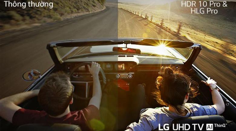 HDR 10 Pro và HLG Pro - Smart Tivi LG 4K 43 inch 43UN7400PTA