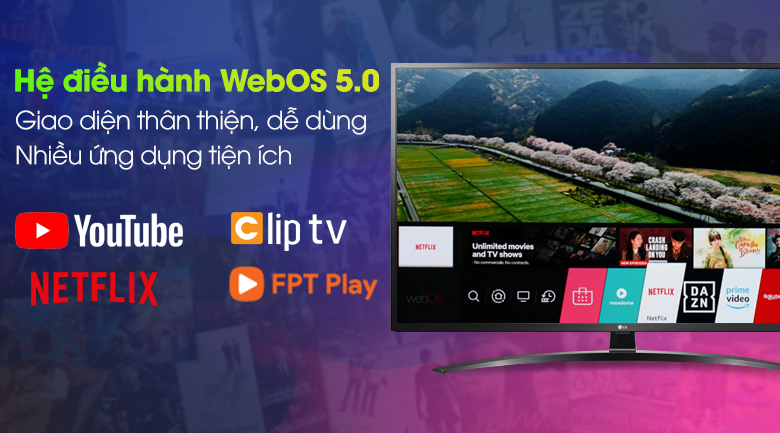 WebOS - Smart Tivi LG 4K 43 inch 43UN7400PTA