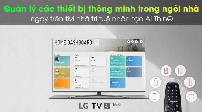 ThinQ AI - Smart Tivi LG 4K 43 inch 43UN7400PTA