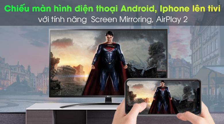 Smart Tivi LG 4K 43 inch 43UN7400PTA - Chiếu màn hình