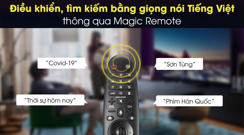 điều khiển, tìm kiếm bằng giọng nói Tiếng Việt qua macgic remote