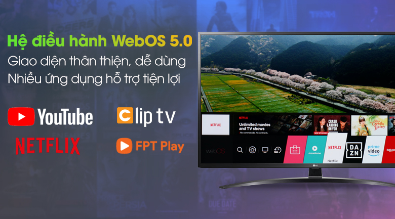 Smart Tivi LG 4K 49 inch 49UN7400PTA - WebOS 5.0