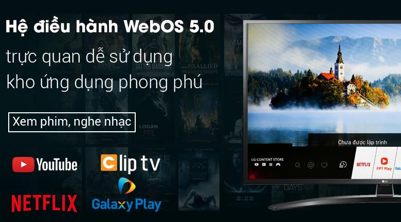 Smart Tivi LG 4K 55 inch 55UN7400PTA - Hệ điều hành WebOS