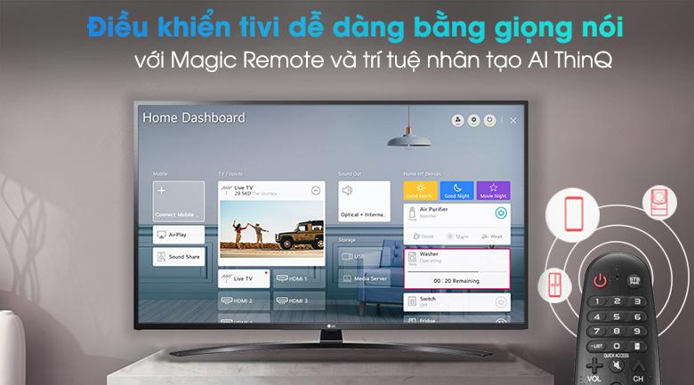 Smart Tivi LG 4K 55 inch 55UN7400PTA - Điều khiển và tìm kiếm bằng giọng nói