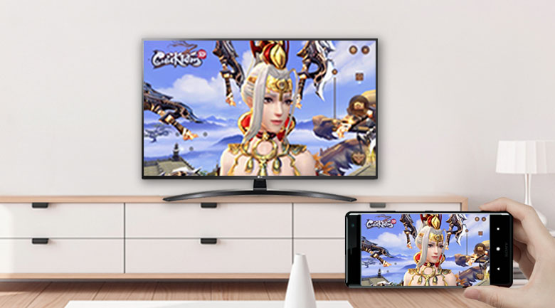 Tivi LED LG 65UN7400PTA -  Screen Mirroring (Android) và AirPlay 2 (Iphone)