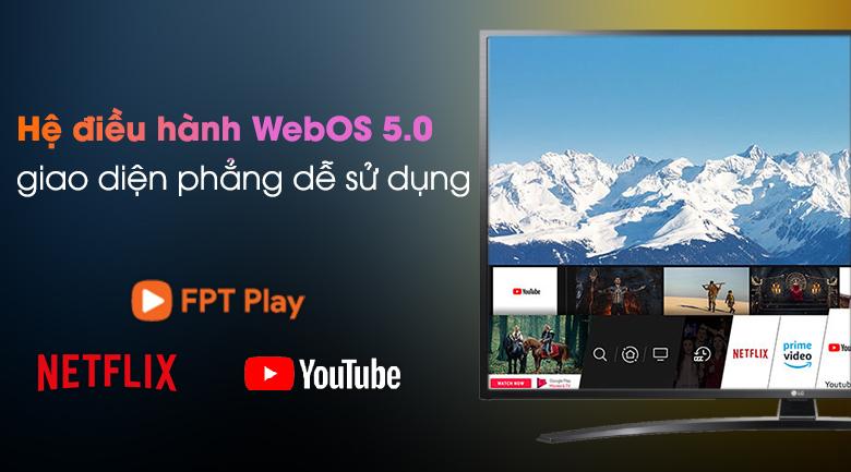 Smart Tivi LG 4K 65 inch 65UN7400PTA  - Hệ điều hành WebOS 5.0