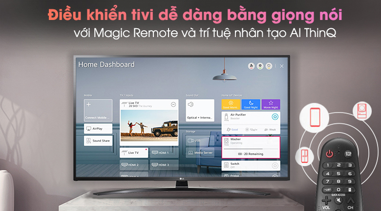 Smart Tivi LG 4K 65 inch 65UN7400PTA - ThinQ AI và Magic Remote