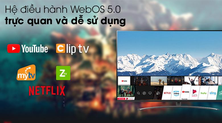 Smart Tivi NanoCell LG 4K 49 inch 49NANO81TNA - Hệ điều hành WebOS 5.0