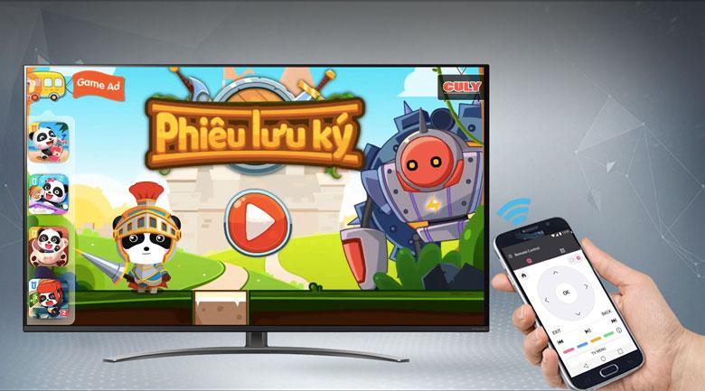 Smart Tivi NanoCell LG 4K 55 inch 55NANO81TNA - Điều khiển tivi bằng điện thoại thông qua ứng dụng LG TV Plus